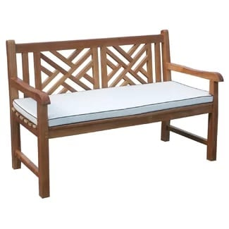 teak-garden-bench-with-cushion Outdoor Teak Benches