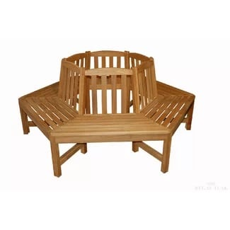teak-tree-garden-bench Outdoor Teak Benches