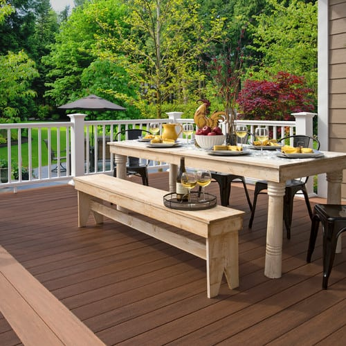 traditional-deck-1 Outdoor Teak Benches