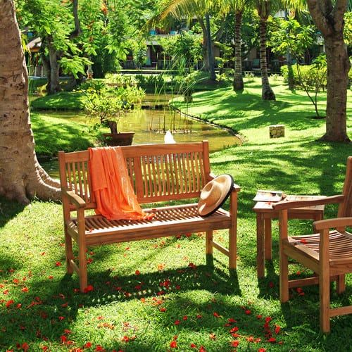 traditional-patio-5 100+ Outdoor Teak Benches