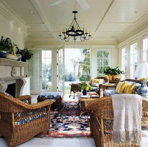 traditional-sunroom-wicker-patio-furniture-sets Best Wicker Patio Furniture Sets