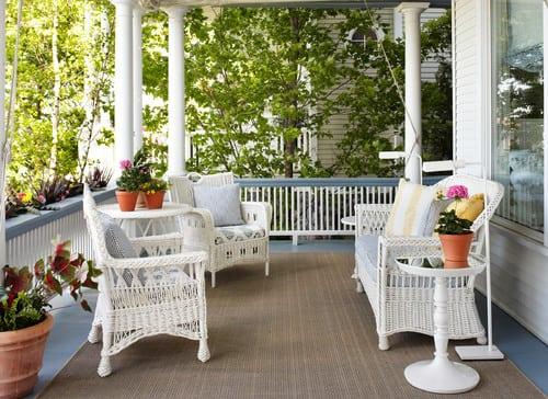 victorian-porch-outdoor-wicker-furniture Best Outdoor Wicker Patio Furniture