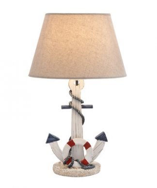 woodland-imports-nautical-anchor-lamp-324x389 Nautical Anchor Decor