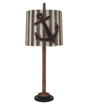 15-coastal-straight-rope-anchor-lamp-300x360 100+ Nautical Anchor Decorations and Decor