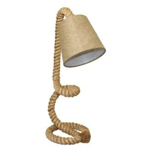 Urban Nautical Twisted Rope Pier Lamp