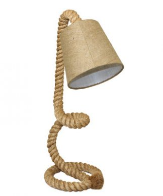Urban Nautical Twisted Rope Pier Lamp
