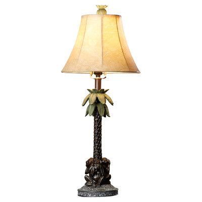 Bay Isle Fyllia Palm Tree Table Lamp