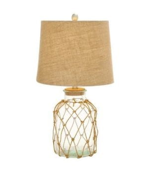 "Glass Bottle 32"" Rope Table Lamp"