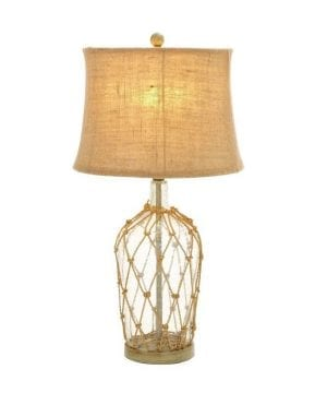 "Glass Bottle 29"" Rope Table Lamp"