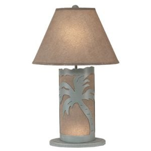 Coastal Living Palm Tree Scene Table Lamp