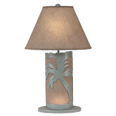 Coastal Living Palm Tree Scene Table Lamp