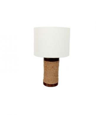 """DEI 19.5"""" rope wrapped lamp"""