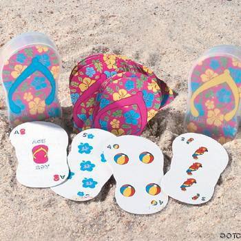 Flip-Flop-Playing-Cards The Best Beach Wedding Favors You Can Buy