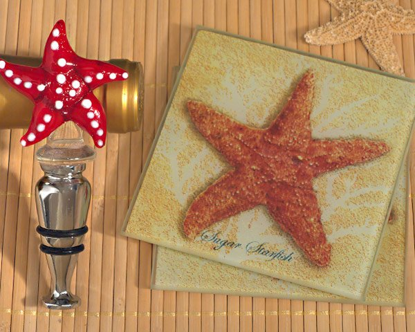 Murano-Collection-Starfish-Coaster-and-Bottle-Stopper-Set The Best Beach Wedding Favors You Can Buy