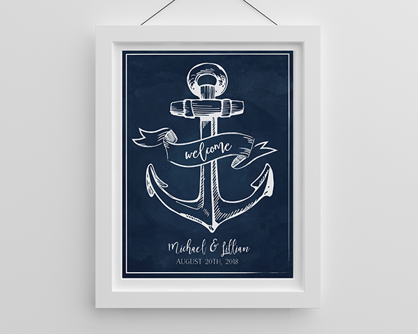 Personalized-Nautical-Poster-favors The Best Beach Wedding Favors You Can Buy