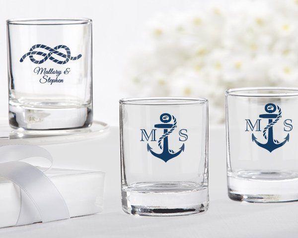 Personalized-Nautical-Themed-Shot-Glass The Best Beach Wedding Favors You Can Buy