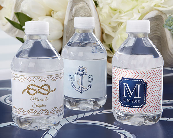 Personalized-Nautical-Wedding-Water-Bottle-Labels-favors The Best Beach Wedding Favors You Can Buy