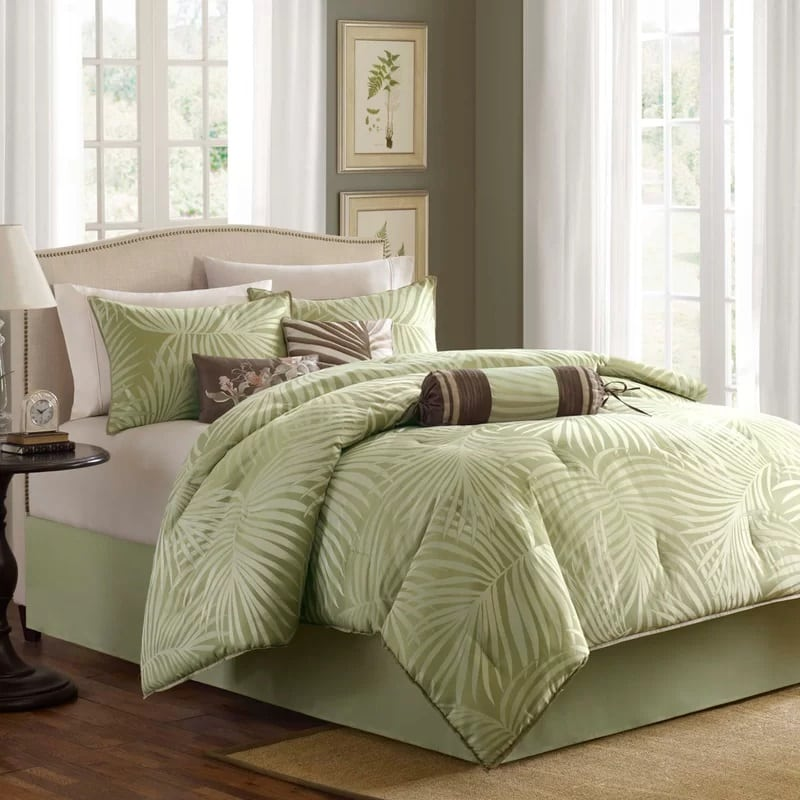 Finest Best Palm Tree Bedding and Comforter Sets - Beachfront Decor KM24