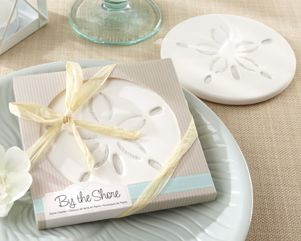 by-the-shore-Sand-Dollar-Coaster The Best Beach Wedding Favors You Can Buy