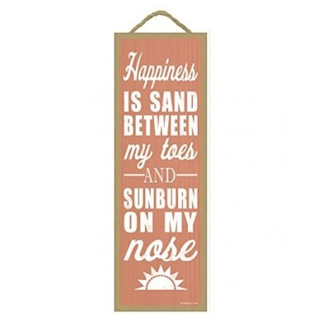 happiness-is-sand-between-my-toes-wooden-sign-450x450 The Best Wooden Beach Signs You Can Buy