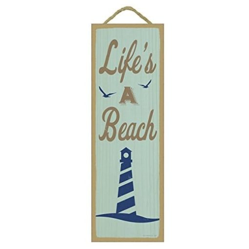lifes a beach wooden sign