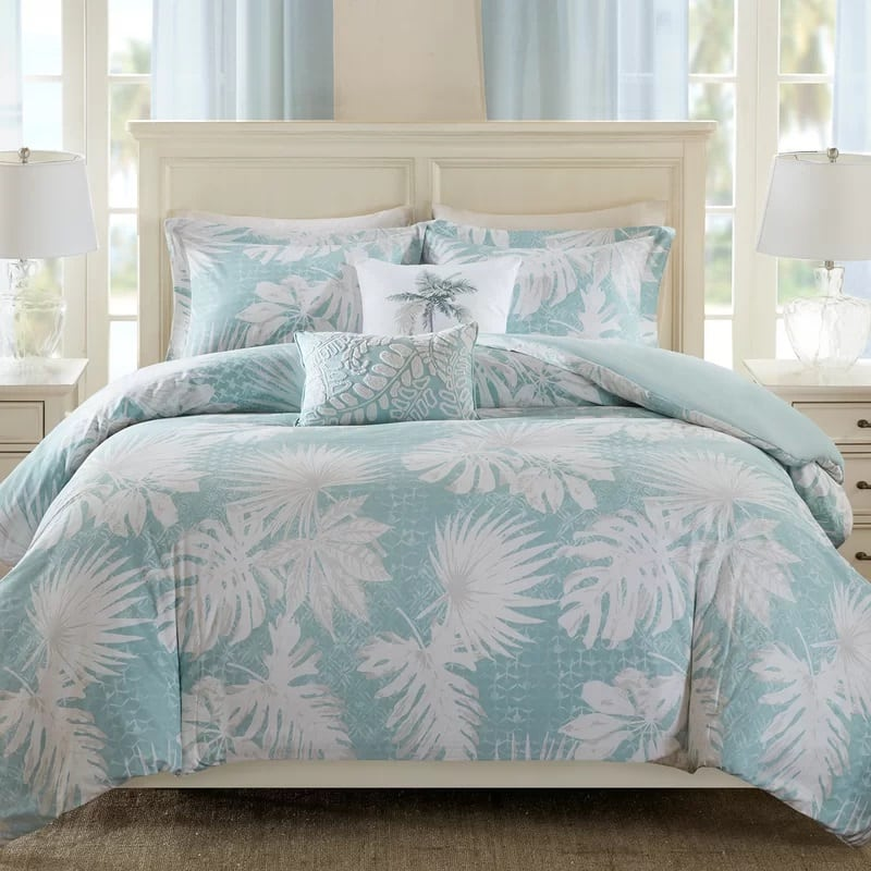 palm-grove-5-piece-duvet-cover-set The Best Palm Tree Bedding and Comforter Sets