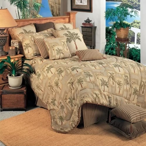 palm-grove-comforter-set-by-karin-maki The Best Palm Tree Bedding and Comforter Sets