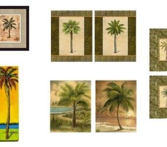 palm tree artwork