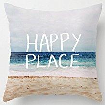 2-happy-place-beach-throw-pillow Coastal Throw Pillows & Beach Throw Pillows