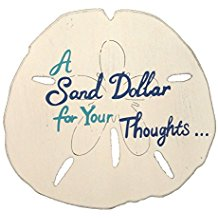 A-Sand-Dollar-for-Your-Thoughts-Wood-Wall-Hanging Best Sand Dollar Wall Art and Sand Dollar Wall Decor For 2020