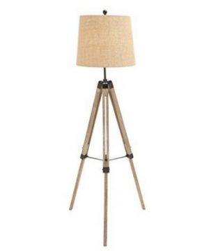 The-Elegant-Wood-Metal-Tripod-Floor-Lamp-300x360 200+ Coastal Themed Lamps