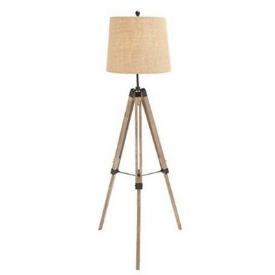 The Elegant Wood Metal Tripod Floor Lamp