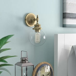 adley-1-light-wall-sconce Beach Wall Sconces & Nautical Wall Sconces
