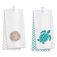 beach-hand-towels Beach Kitchen Decor and Coastal Kitchen Decor