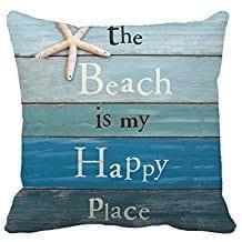 beach-happy-place-throw-pillow Coastal Throw Pillows & Beach Throw Pillows
