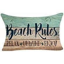 beach-rules-relax-unwind-throw-pillow Coastal Throw Pillows & Beach Throw Pillows