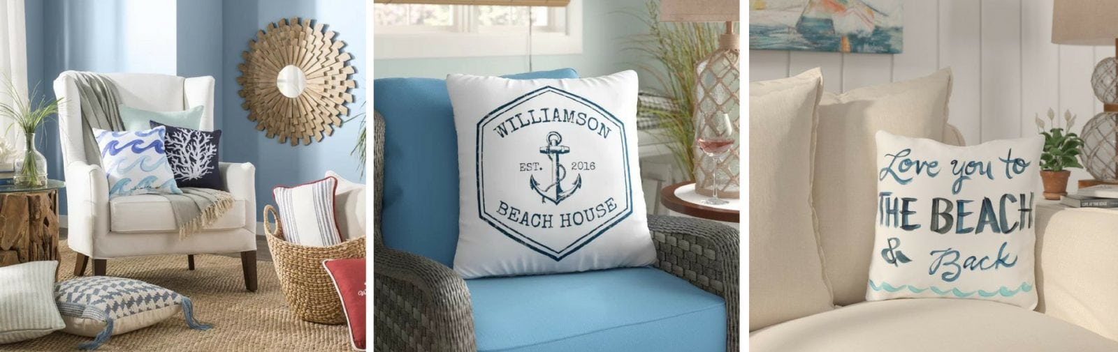 Coastal Throw Pillows & Beach Throw Pillows