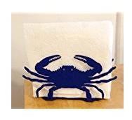 blue-crab 50+ Beach Napkin Holders and Coastal Napkin Holders For 2020