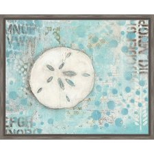 coastal-sand-dollar-framed-painting Best Sand Dollar Wall Art and Sand Dollar Wall Decor For 2020