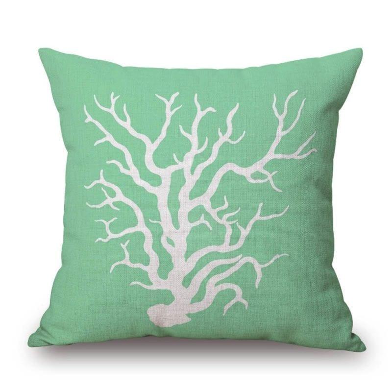 coral-in-green-throw-pillow-800x800 Coastal Throw Pillows & Beach Throw Pillows