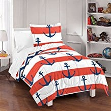 dream-factory-sail-away-anchor-kids-comforter-set-twin Kids Beach Bedding & Coastal Kids Bedding