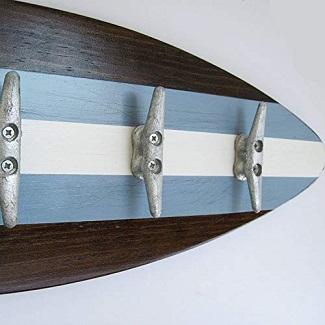 galvinized-metal-surfboard-decor-hooks Surfboard Towel Hooks and Surfboard Wall Hooks