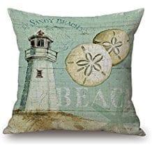 happy-cool-sandy-beach-sand-dollar-lighthouse-throw-pillow Coastal Throw Pillows & Beach Throw Pillows