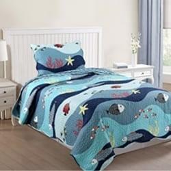 kids-bedspread-beach-quilt Kids Beach Bedding & Coastal Kids Bedding