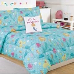 lets-be-mermaids-girls-beach-bedding Kids Beach Bedding & Coastal Kids Bedding