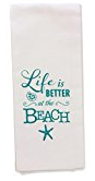 lifes-a-beach-hand-towel Beach Kitchen Decor and Coastal Kitchen Decor