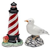 lighthouse-seagull-salt-pepper-set Beach Kitchen Decor and Coastal Kitchen Decor