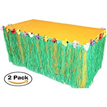 luau-green-hibiscus-table-skirt-3 Best Luau Party Decorations