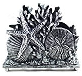 silver-seashell-napkin-holder Beach Kitchen Decor and Coastal Kitchen Decor