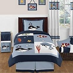 whales-nautical-kids-bedding Kids Beach Bedding & Coastal Kids Bedding